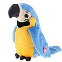 Plush Toy - Electric Parrot Singing Talking Stuffed Toy Parrot 22cm for 1-3 Ages Kids Gift