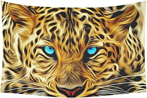 D-Story Custom Wall Tapestry Cool Leopard Cotton Linen Tapestry Wall Hanging 40x 60