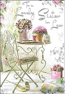 Jonny Javelin Sister In Law Birthday Card JJ8467 Flowers On Table 9