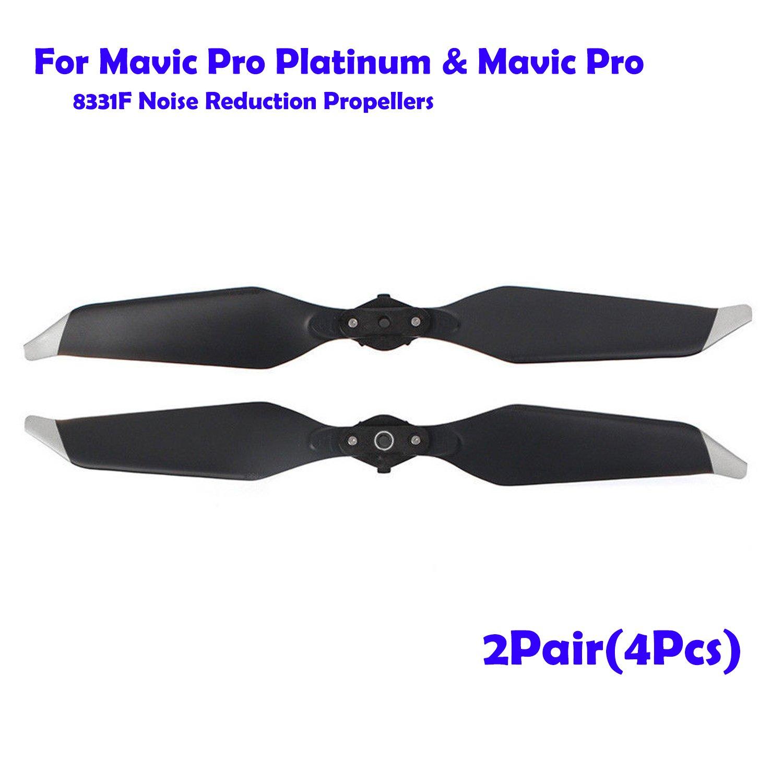 QUMOX 2 Paar (4 Stücke) DJI Mavic Pro Platinum Low-Noise 8331F Schnellverschluss Propeller Requisiten V176