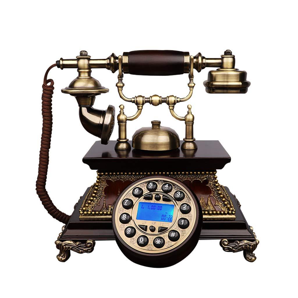 アンティーク装飾電話、携帯電話固定電話ホームクリエイティブオフィス固定ヨーロッパアンティークレトロ樹脂電話25 * 24.5 * 26 cm、から選択するスタイルのバラエティ (三 : Double bracket-a) B019MKJZF4 Double bracket-a