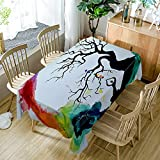 Chakras Tablecloth Modern Decor Artwork Seven Chakras And Meditation Polyester Fabric Table Cloths Dining Room Kitchen Rectangular Table Cover 52W X 70L Inches Colorful