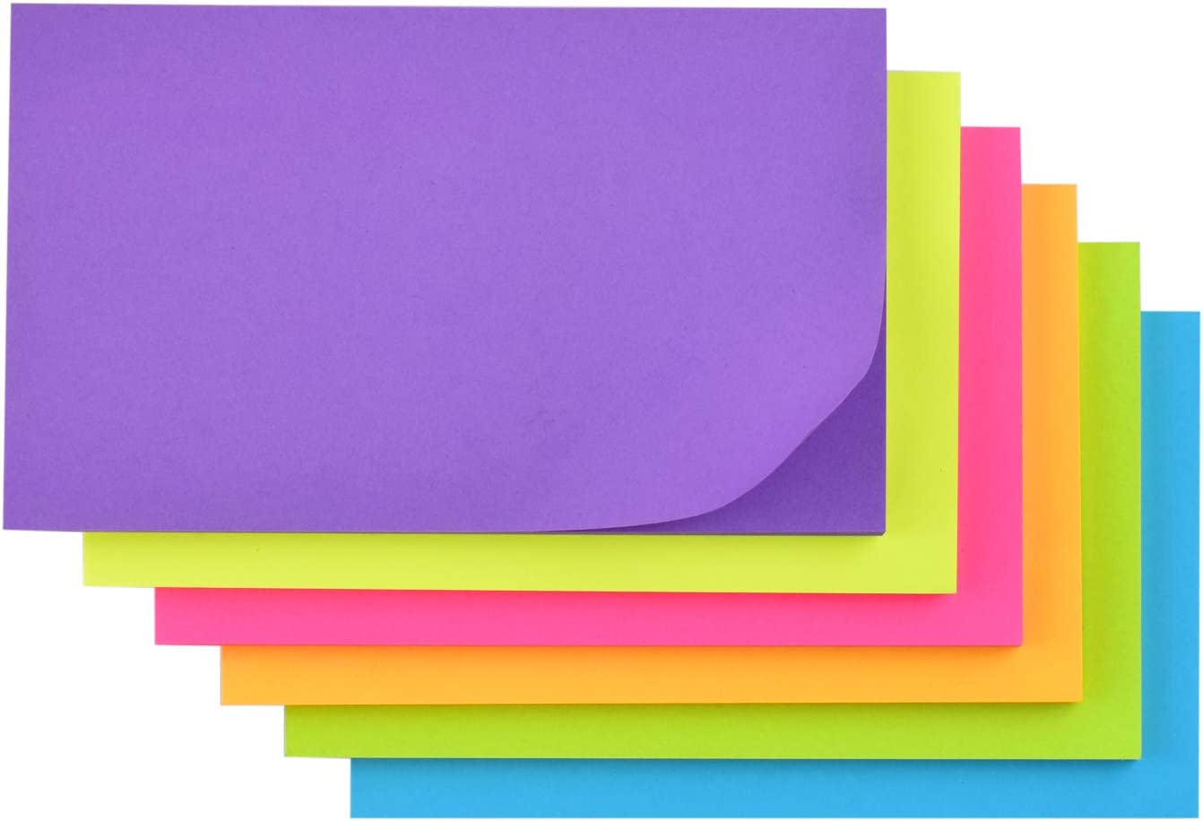 50 Sheets//Pad 6 Pads//Pack 3 in x 5 in Recyclable Sticky Note