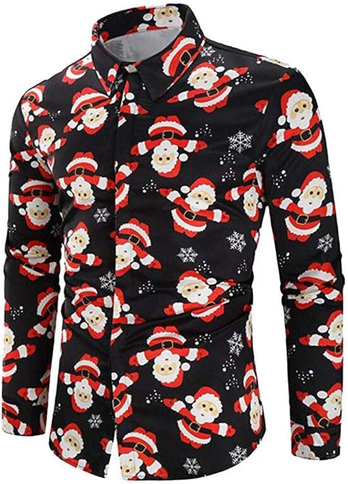 Camisas de Navidad Estampadas Divertidas para Hombre Camisa ...