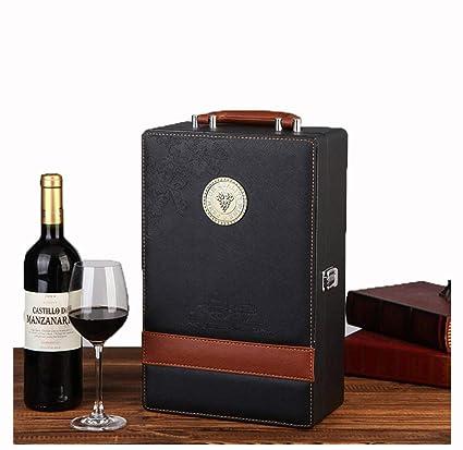 Juego De Cajas De Vino / 2 Botellas Caja De Presentación De ...