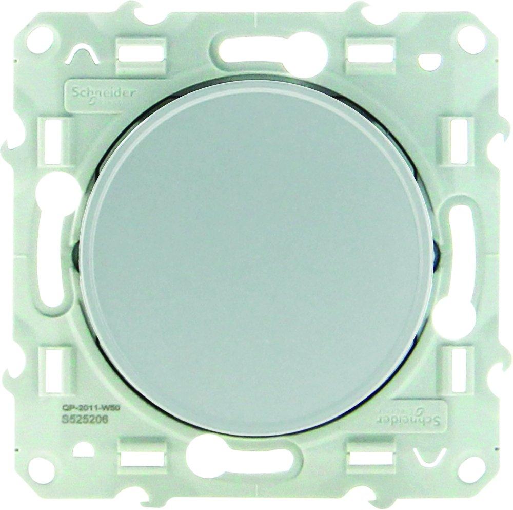 230 V Schneider Electric SC5S53A204 Odace color aluminio Interruptor