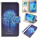 J7 Case, UrSpeedtekLive Galaxy J7 Wallet Case, Premium PU Leather Flip Wallet Case Cover with Card Slots & Kickstand for Samsung Galaxy J7, Believe in yourself