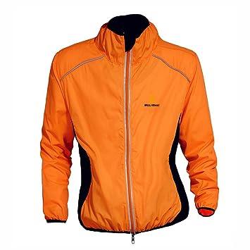 WOLFBIKE bicicleta Jersey Hombre Montar transpirable Ciclo Chaqueta Ropa bici camisas de manga largas Abrigo del viento M Naranja: Amazon.es: Deportes y ...