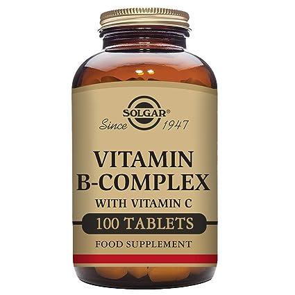 Solgar B Complex con Vitamina C - 100 Cápsulas