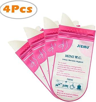 4Pcs Urinal Urine Bag Emergency Mini Toilet Vomit Bag Portable Disposable DP