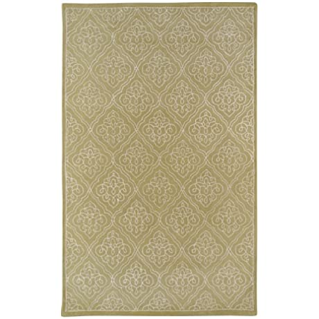 Candice Olson By Surya Modern Classics CAN 1914 Classic Hand Tufted 100 New Zealand Wool Split Pea 2 6 X 8 Paisleys And Damasks Runner