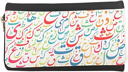 Arabic letters Printed Leather Case Wallet