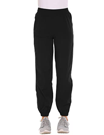 940db69d2900a Guteer Women Winter Outdoor Quick Dry Hiking Camping Elastic Waist Pull on  Sports Pants,Black