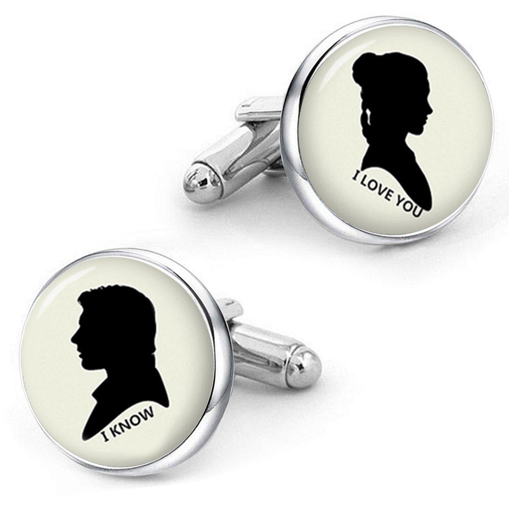 Kooer I Love You I Know Cufflinks For Star Style Custom Personalized Wedding Cuff Links Jewelry bronze)