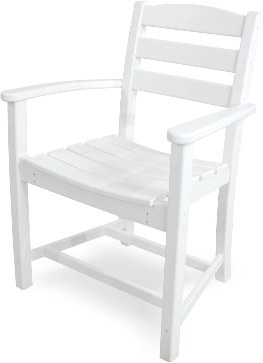 POLYWOOD TD200WH La Casa Caf Dining Arm Chair, White