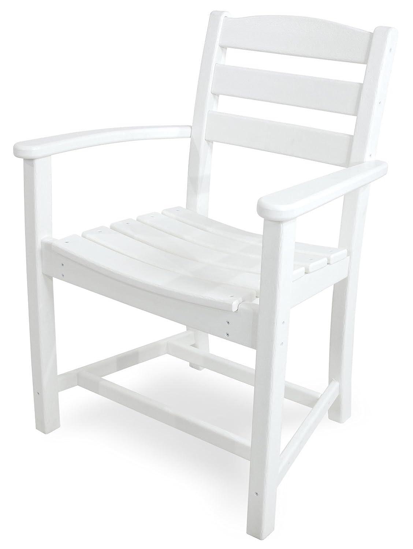 POLYWOOD TD200WH La Casa Café Dining Arm Chair, White