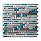 "bathroom wall tile  Peel and Stick Tile 10.5""x 10"" Adhesive Vinyl 3D Wall Tiles,10 Pack"