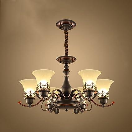 GLJXG Lampadari classici di vetro di rame pieno del candeliere 4 ...