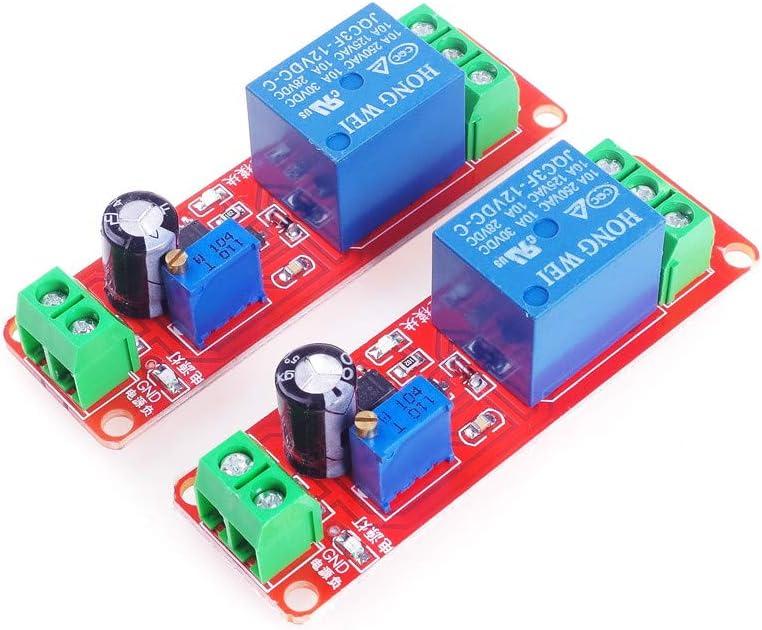 ANGEEK 2PCS NE555 Módulo de retardo monoestable Interruptor Interruptor de encendido / apagado 12V Retraso eléctrico automotriz para arduino