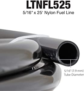 4LIFETIMELINES Nylon Fuel Repair Tubing Coil, 5/16 x 25 ft