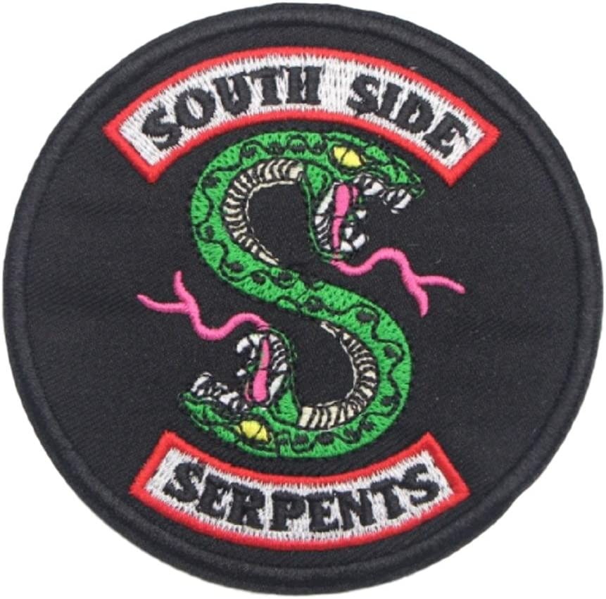 """Riverdale SouthSide Serpents IRON ON Patch//Badge 4.5/"""""""