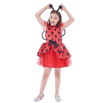 IKALI Disfraz de Mariquita para niños,Animal Falda Tul Ladybug ...
