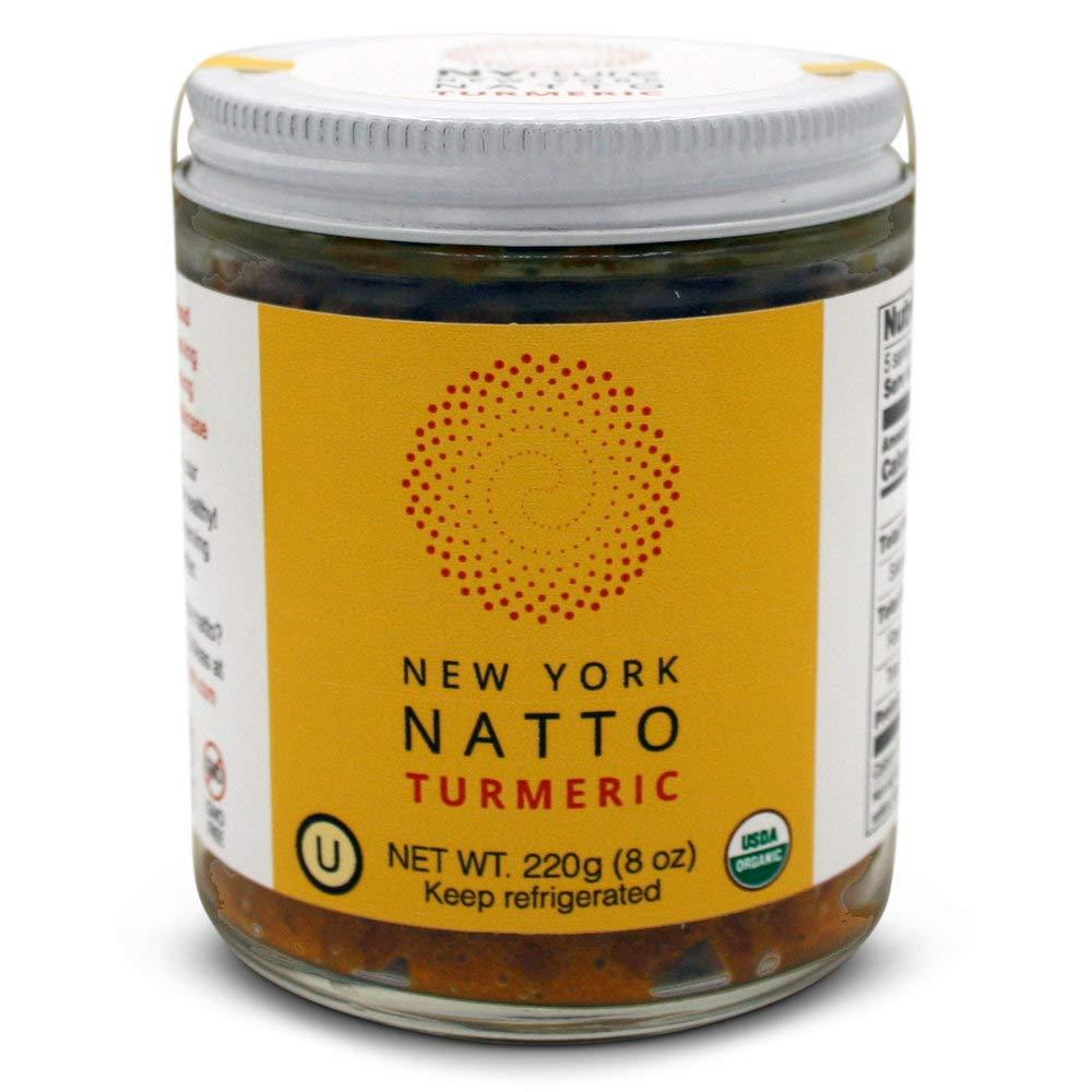 New York Natto Turmeric - Japanese Probiotic Superfood made fresh in NYC - Certified Organic - 4 jars, 8 ounces (220 grams) per jar