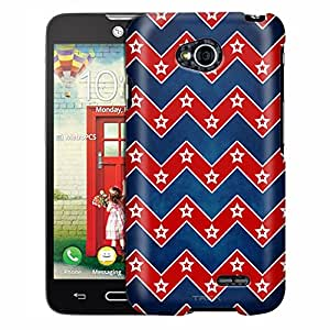 LG Optimus Exceed 2 Case, Slim Fit Snap On Cover by Trek Patriotic Chevrons with Stars Case
