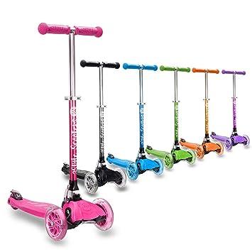 3StyleScooter® RGS-1 Scooter de Tres Ruedas niños Mayores de 3 años - Ruedas iluminadas con Luces LED, Plegable y Ligera con manubrios Ajustables - ...
