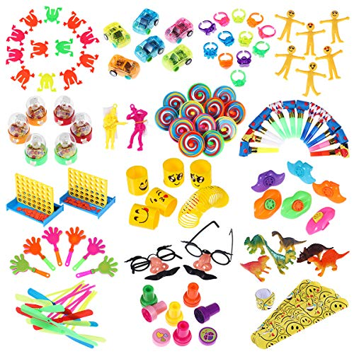 iBaseToy Party Favor Toy Assortment 120 Pack, Birthday Party Favors for Kids, School Classroom Rewards, Carnival Prizes, Pinata Fillers, Bulk Toys, Treasure Box, Goodie Bag Fillers, Stocking Stuffers