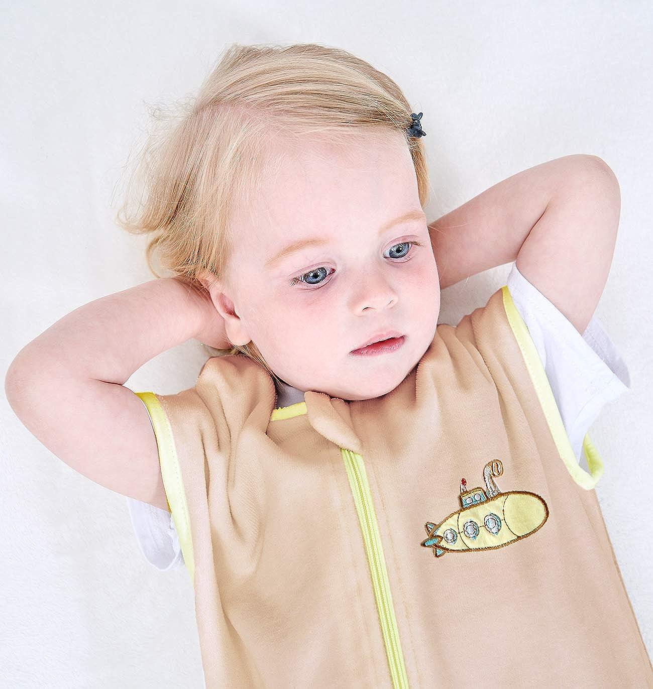 Sincere ililmmoe Baby Sleep Sack Spring Autumn Warm Infant Walking Sleeping Bag with Legs Wearable Blankets Pajamas 6months-4Years