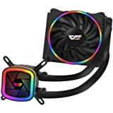 darkFlash DT2120 120mm Water Liquid Cooling AIO Cooler Radiator with 120mm LED Rainbow Lighting Case Fan CPU Cooler…