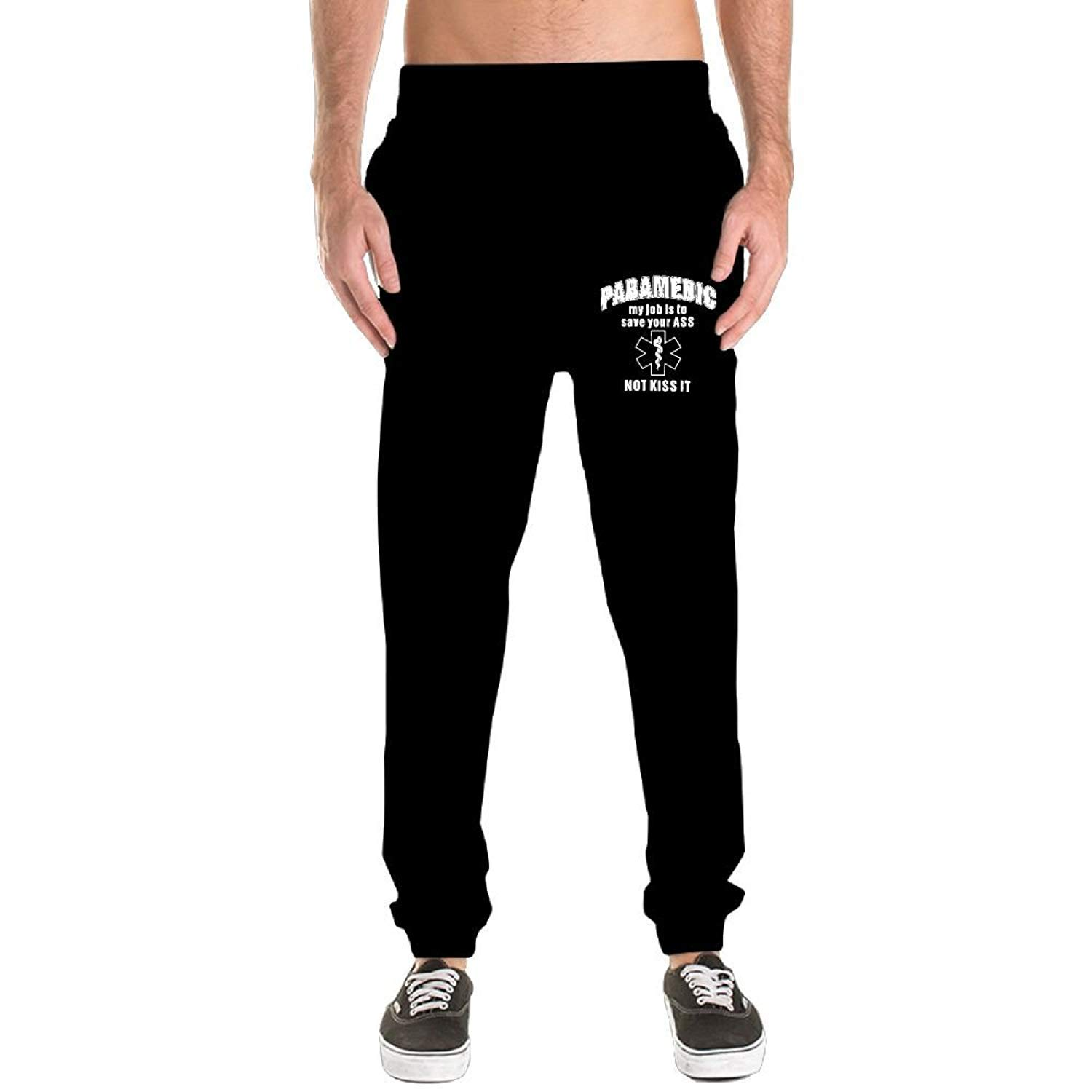 An Ping Mens Paramedic My Job is to Save Your Ass Leisure Sports Cotton Sweatpants