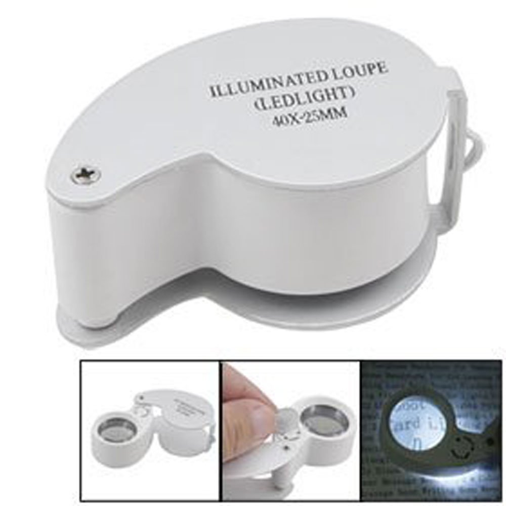 Salesland Illuminated Jewelers Eye Loupe 40x-25mm with Led Lighting