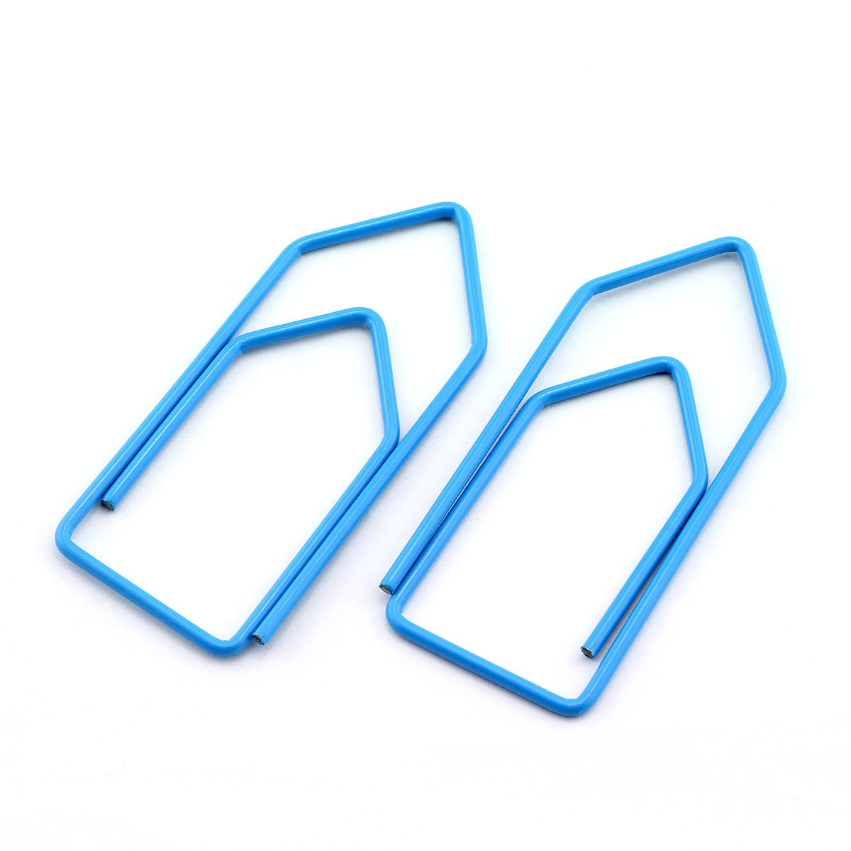 RuiLing 30-Pack Paper Clips,Light Blue Creative Shape 2.7 inch Length Great for Paper Clip Collectors Bookmark Document Holder Office School
