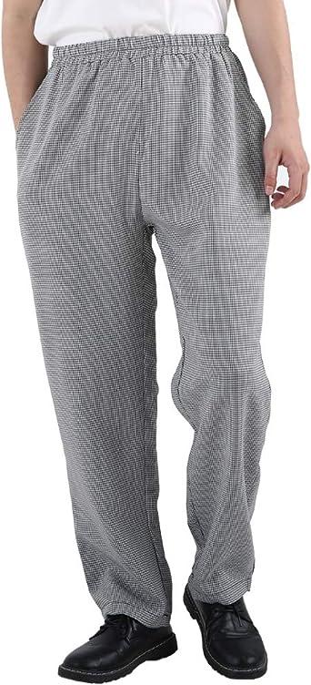 Amazon Com Pantalones De Chef Para Hombre Y Mujer Elasticos A Rayas Florales Para Restaurante Trabajo Pantalones Y Uniformes Clothing