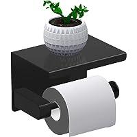 Leolee Toiletpapierhouder zonder boren, toiletpapierhouder met dienblad, roestvrij staal SUS 304, zelfklevende lijm en…