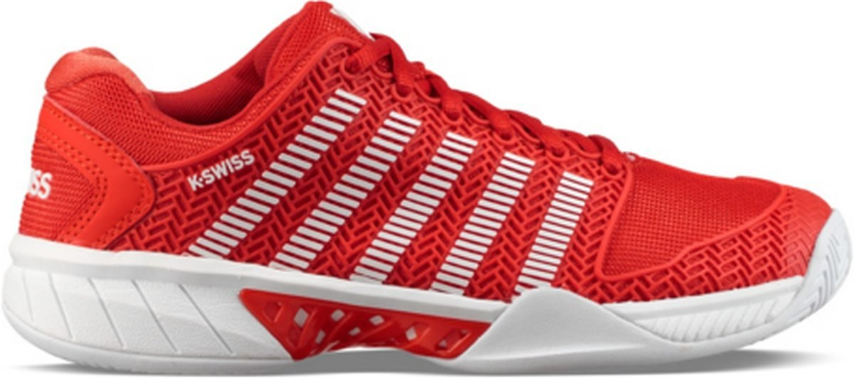 K-Swiss Women's Hypercourt Express Tennis Shoe, Fiesta/White (8 US)