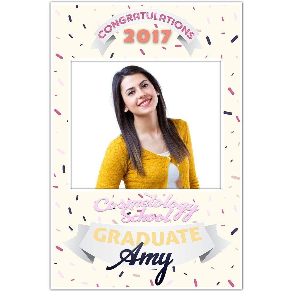 Hairstylist Cosmetology Graduation Selfie Frame Photo Booth Prop Poster
