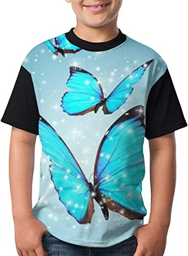 Blue Butterfly Fantasy Camiseta clásica para niños ...