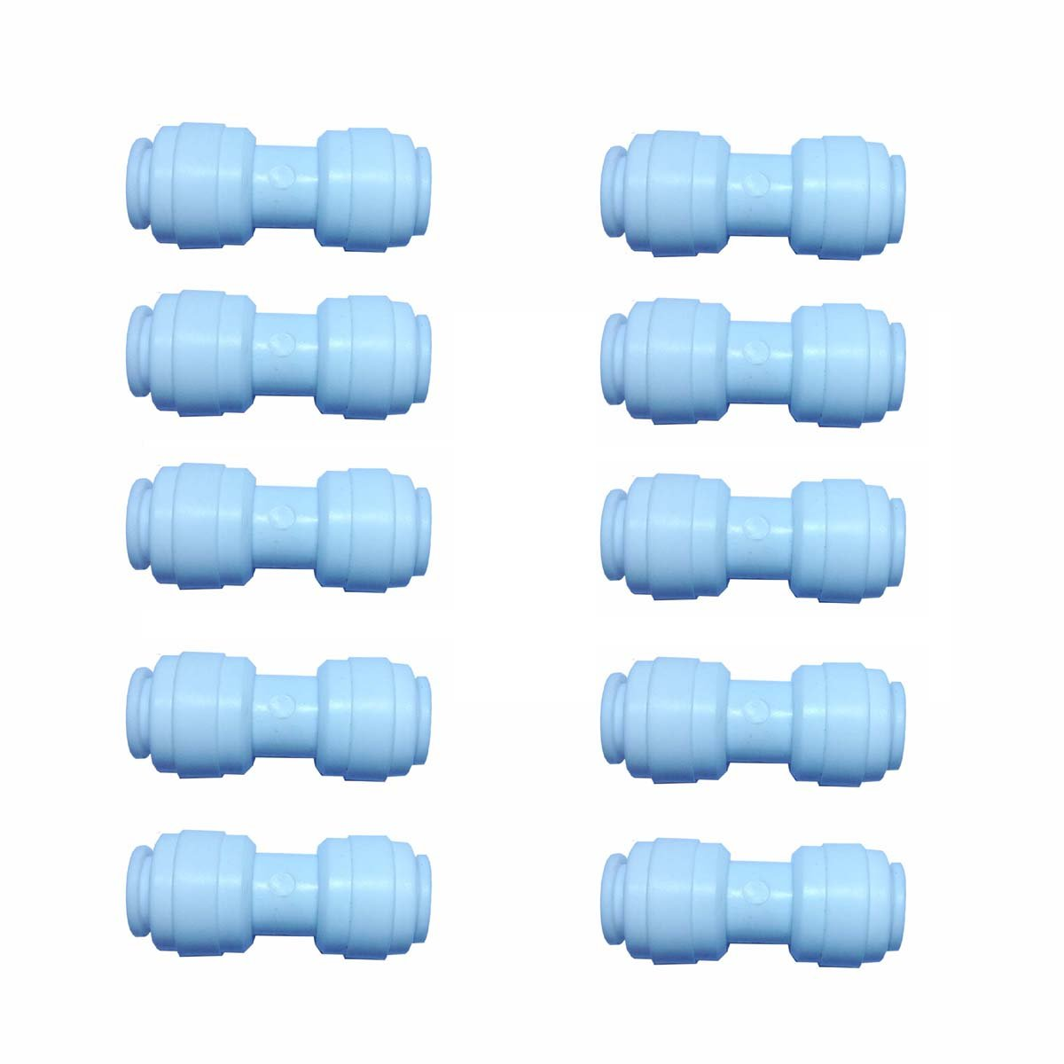 Malida 3//8 Inch to 3//8 Inch Tube OD Water Purifiers Tube Quick Connector Fittings Set of 10 3//8 straight type