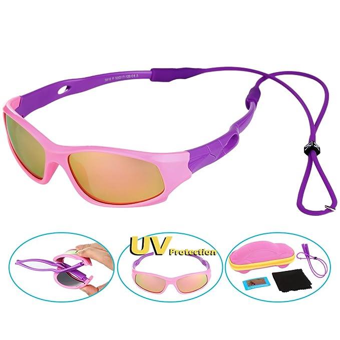 VBIGER Gafas de sol niños y niñas Protección rayos UVA y UVB, Gafas de sol flexibles deportivas para niño 2 y 6 años