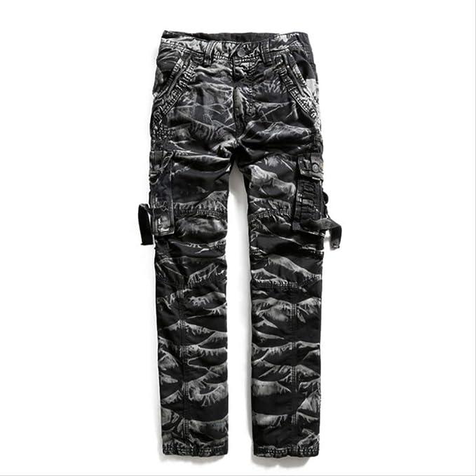 GZKKSH Pantalones de chándal de Camuflaje para Hombre 33 CAM Negro ...