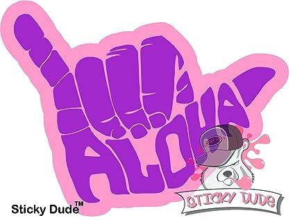 3f3f00d38b58 Amazon.com: 2 pcs - Shaka Aloha Hand Hawaii Symbol Decal Funny Vinyl ...