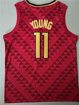 Maglia Sportiva Senza Maniche retr/ò in Tessuto Traspirante E Traspirante S-XXL LIZTX Atlanta Hawks # 11 Jersey-Trae Young Basketball Swingman Jersey da Uomo