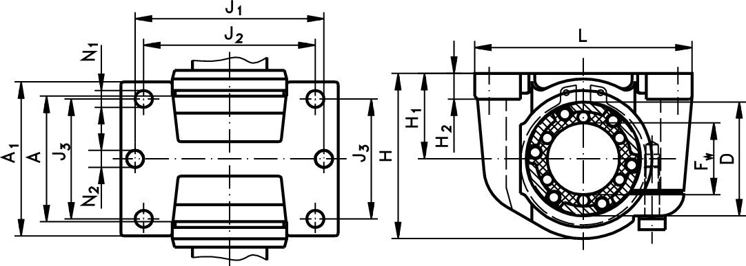 Index plunger 612 shape B-N M16 x 1,5 /ø10mm