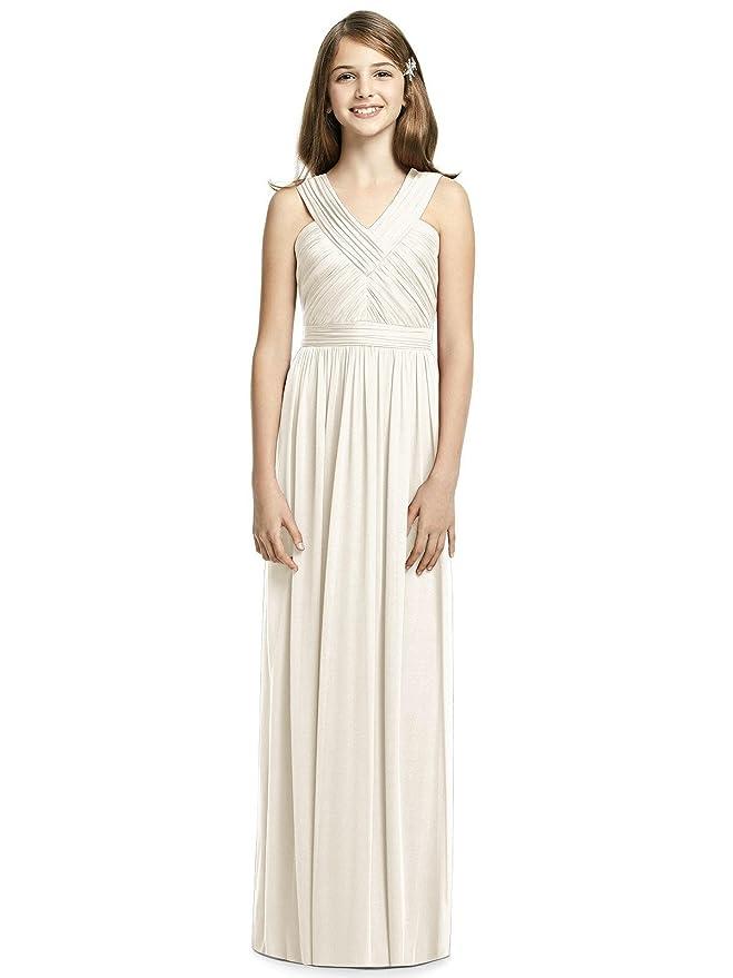 4dfd3da906c Amazon.com  Alivedre Chiffon Junior Bridesmaid Dress Girl Dress for Wedding  Party  Clothing