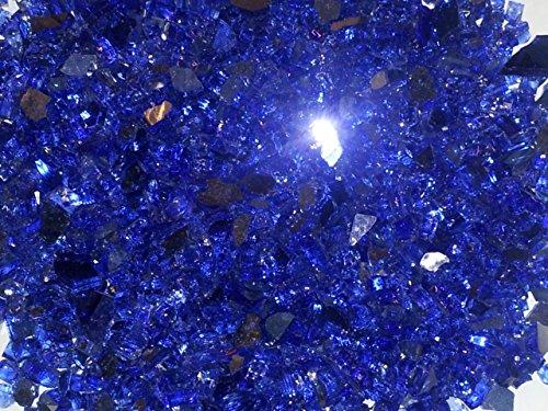 1/2'' Royal Blue Metallic / Cobalt Blue Reflective Fireglass 10 Pound Bag by Fire On Glass