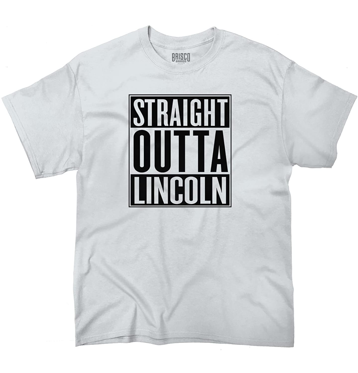 Straight Outta Lincoln, NE City Funny Movie T Shirt Gift Ideas T-Shirt Tee