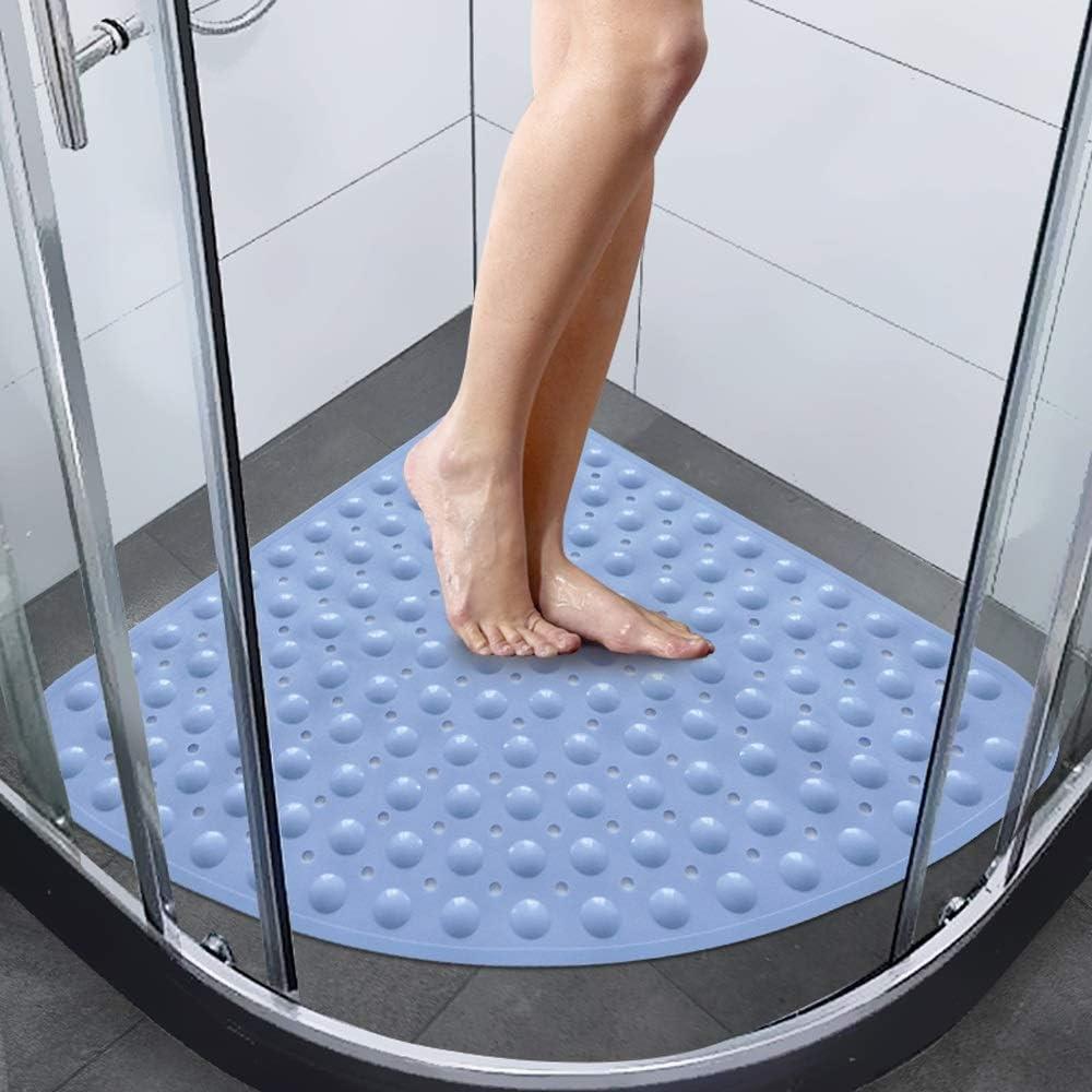 Tappetino da bagno in plastica Tappetino da bagno in gomma ambientale antiscivolo Tappetino da doccia in vasca da bagno con tappetino doccia anti-batterico di lusso per box doccia con potenti ventose